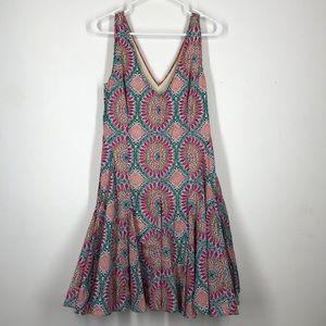 Anthropologie HD in Paris pink printed dress sz 8